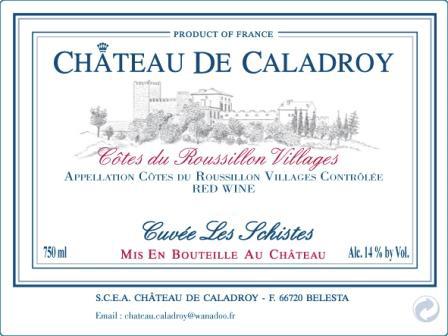 Château de Caladroy label
