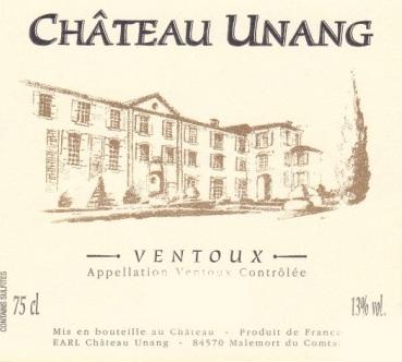 Château Unang label