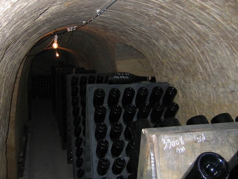 Champagne Lilbert-Fils cellar