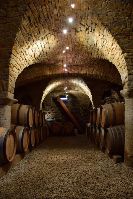 Cellar of Domaine Jean-Luc Mouillard