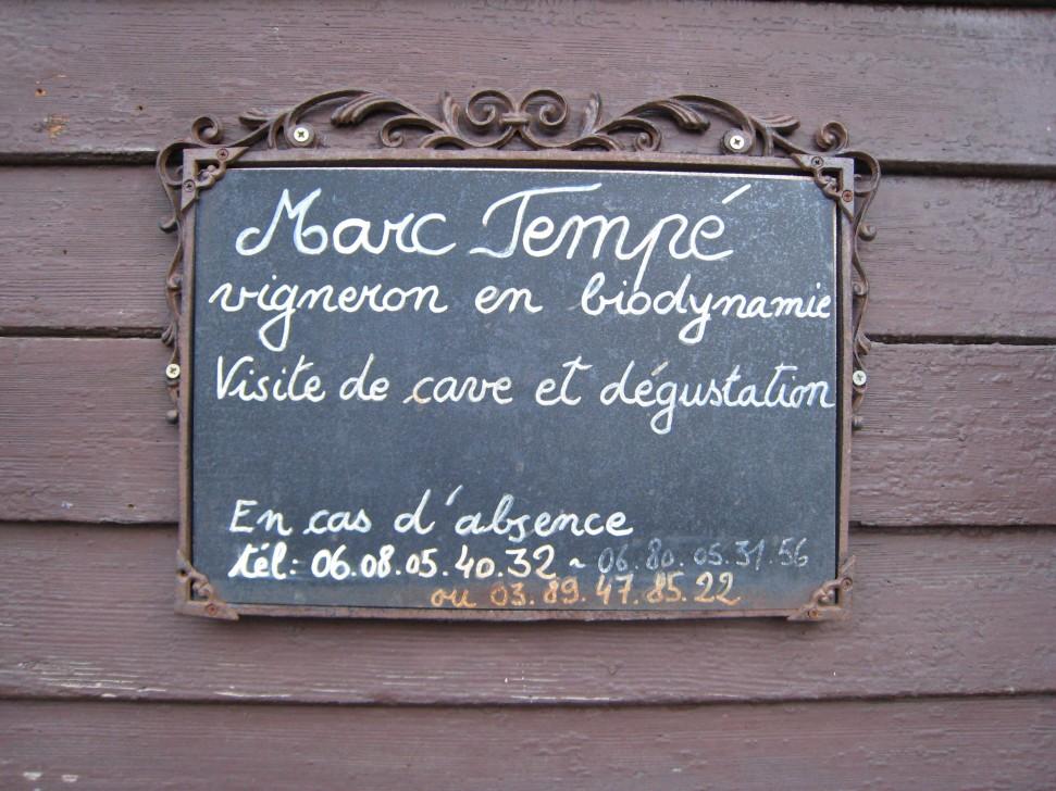 Domaine Marc Tempé sign