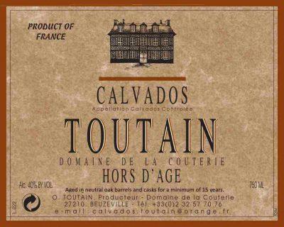 Toutain_Hors_d'Age_label