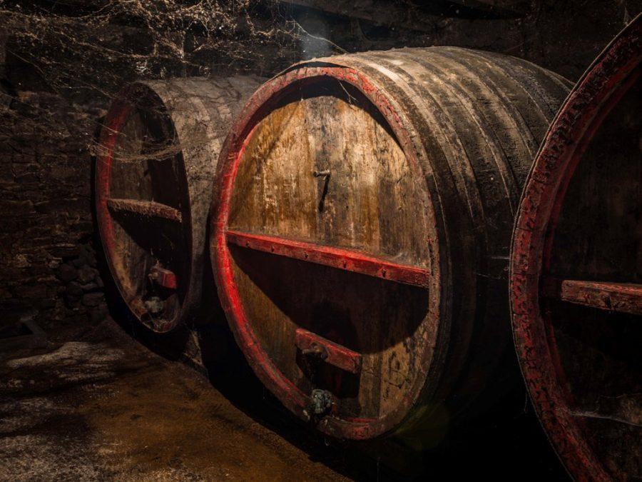 barrels at Domaine du Pavillon de Chavannes