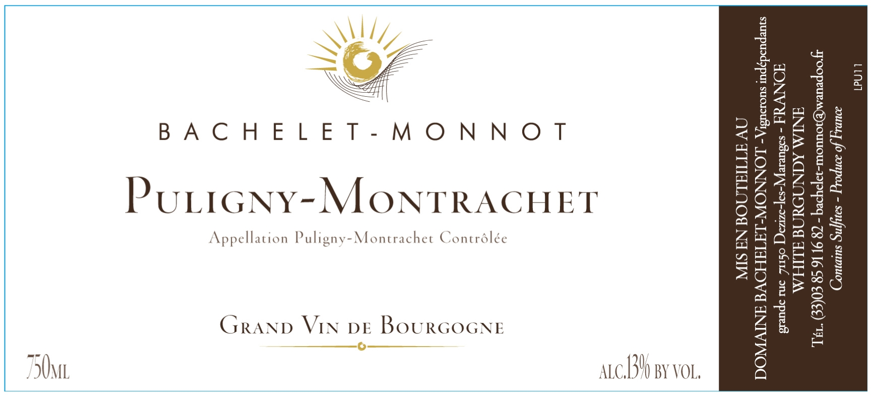 Domaine Bachelet-Monnot label