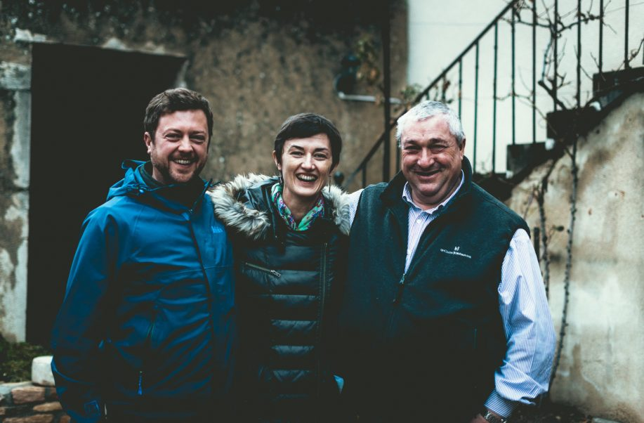 Jean-Pierre Charlot, Mélanie of Domaine Pfister and Mike Daniels