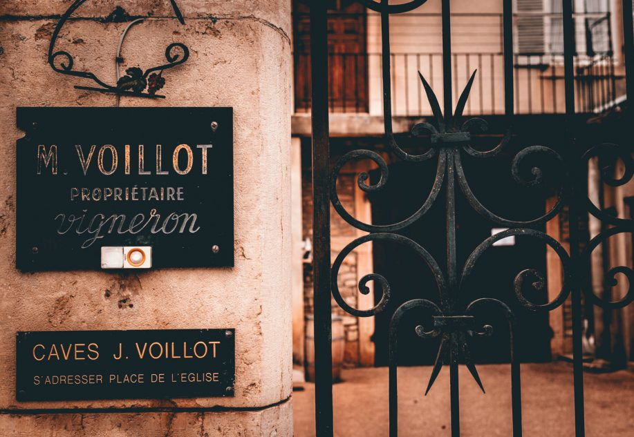 cellar entrance of Domaine Joseph Voillot
