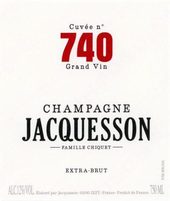 Champagne Jacquesson label