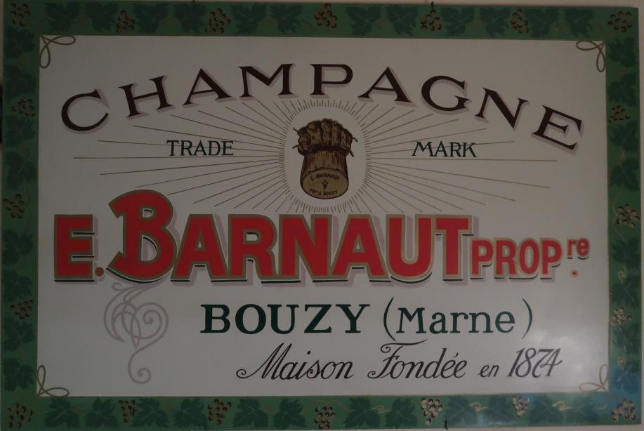 Champagne Barnaut sign