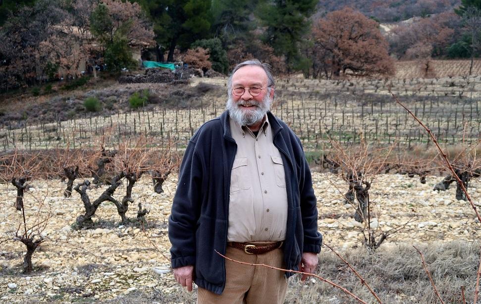 Jean-Marie Astart of Domaine Hautes Cances in his Col du Débat vineyard