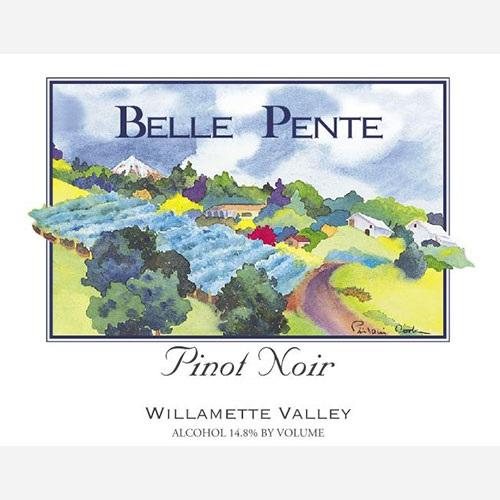 Belle Pente Pinot Noir label