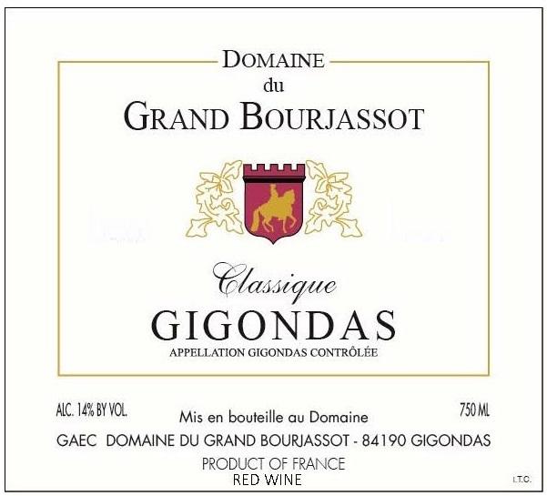 Domaine du Grand Bourjassot label