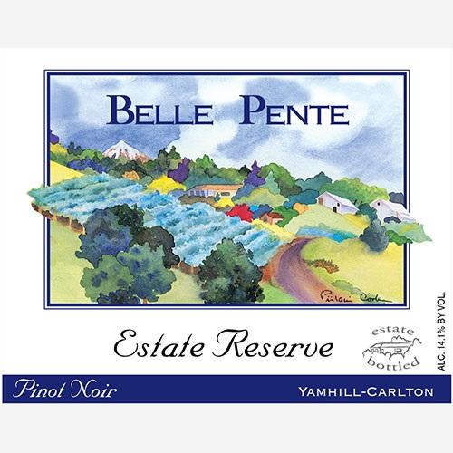 Belle Pente Estate Pinot Noir label